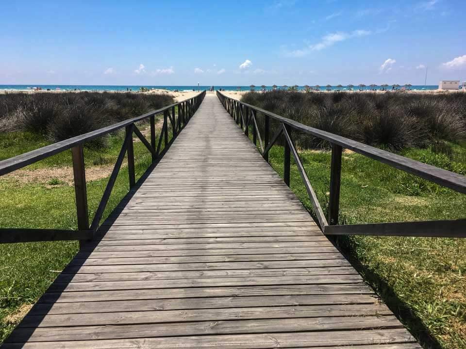 Die Mutter kommt – Conil Strandsteg
