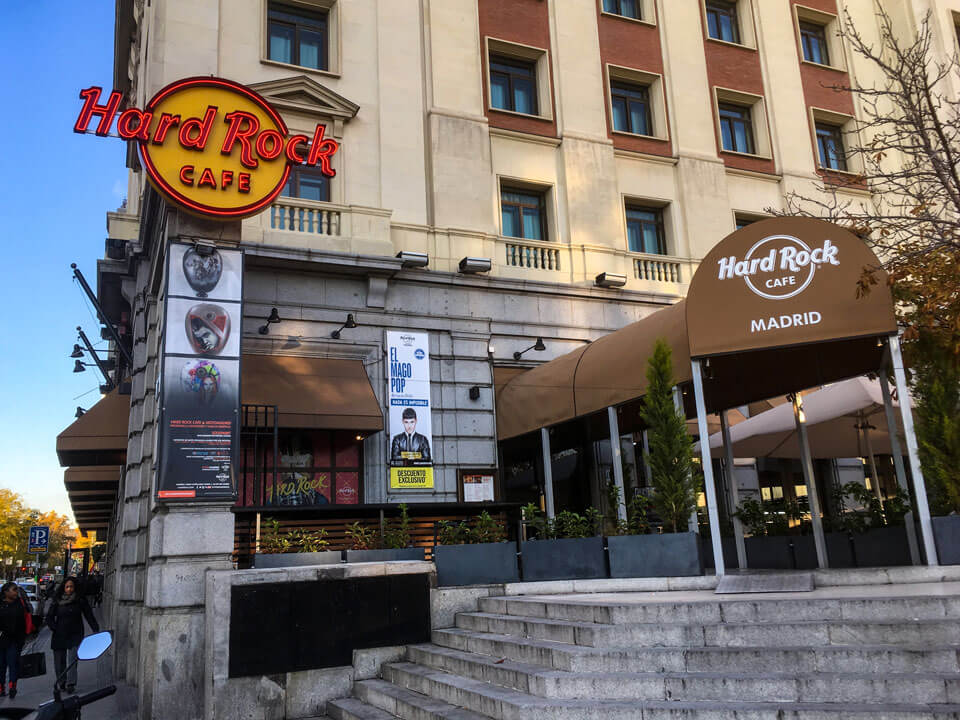 Wochenende in Madrid - Hard Rock Cafe