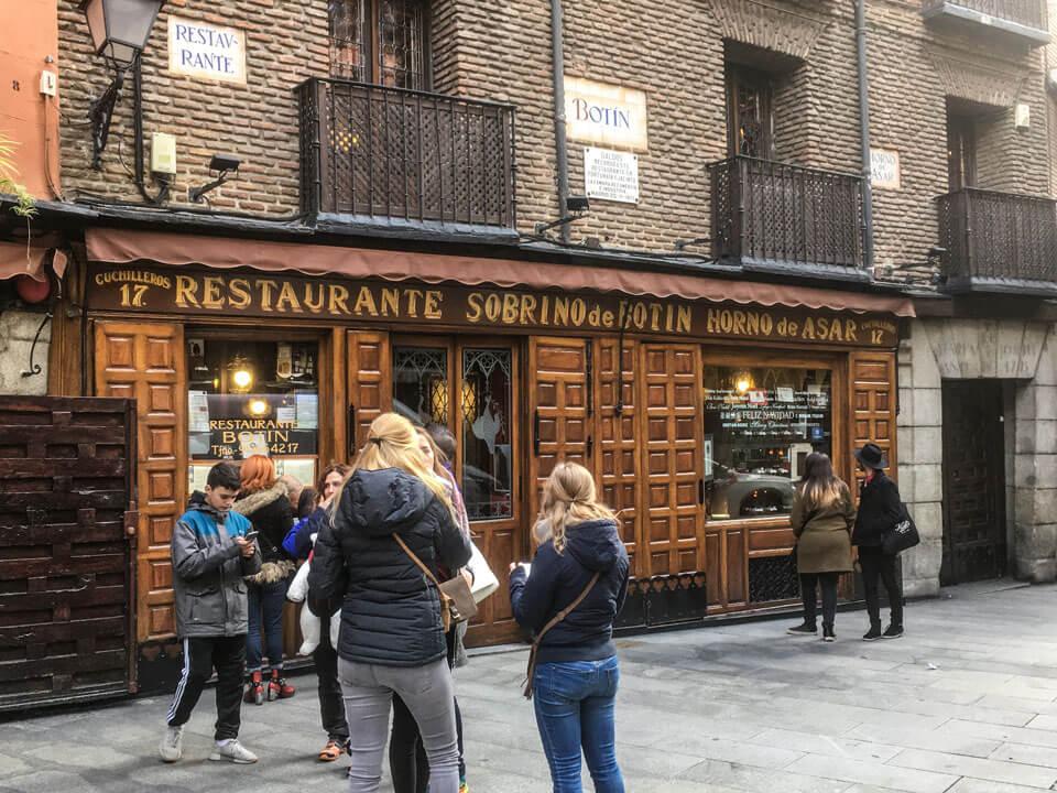 Wochenende in Madrid - Restaurante Sobrino de Botin